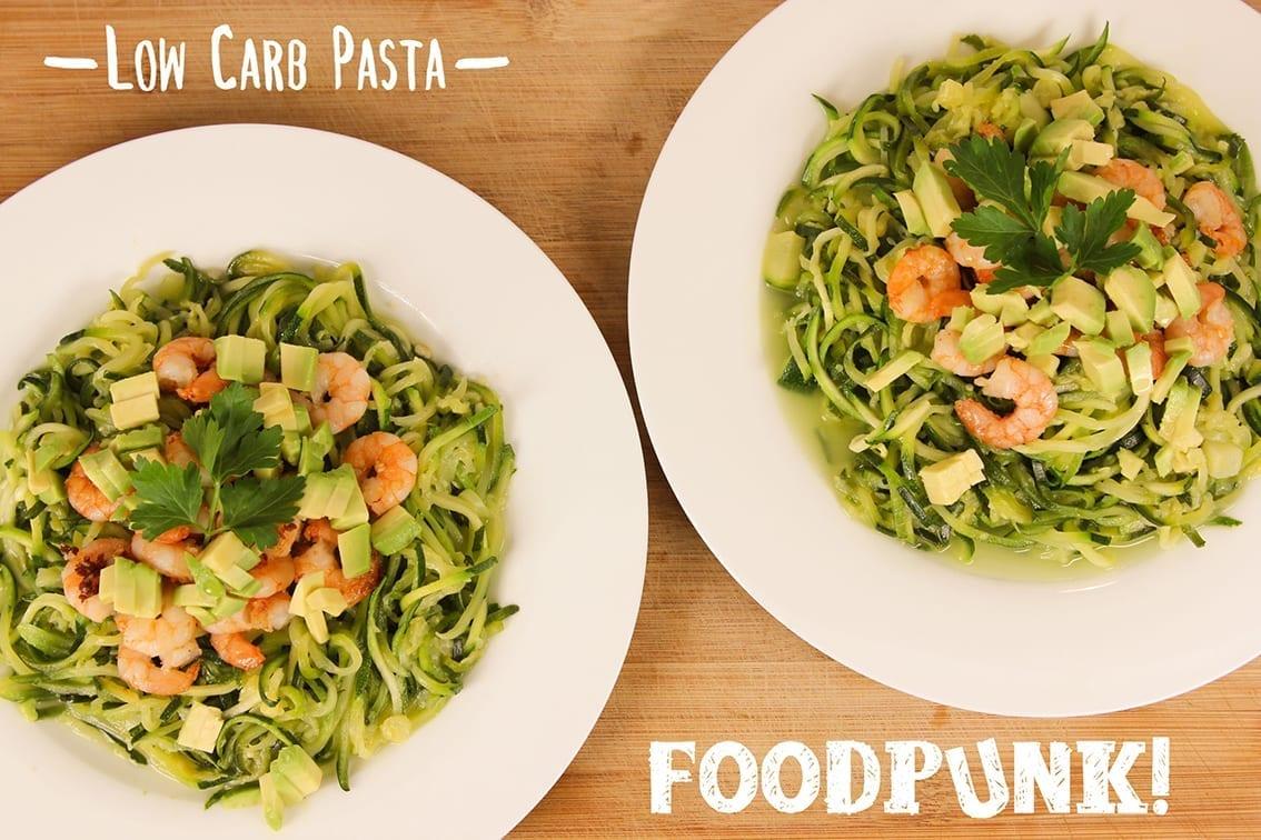 low carb spaghetti mit garnelen foodpunk. Black Bedroom Furniture Sets. Home Design Ideas