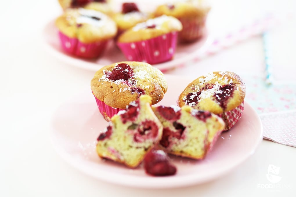 Schnelle Low Carb Himbeer Cupcakes