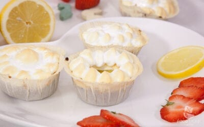 Zitronige Tartelettes mit Low Carb Lemon Curd und Mohnboden