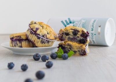 Low Carb Blaubeer-Muffins