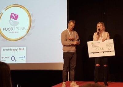Foodpunk gewinnt ersten Preis beim Breakthrough 2018 Award