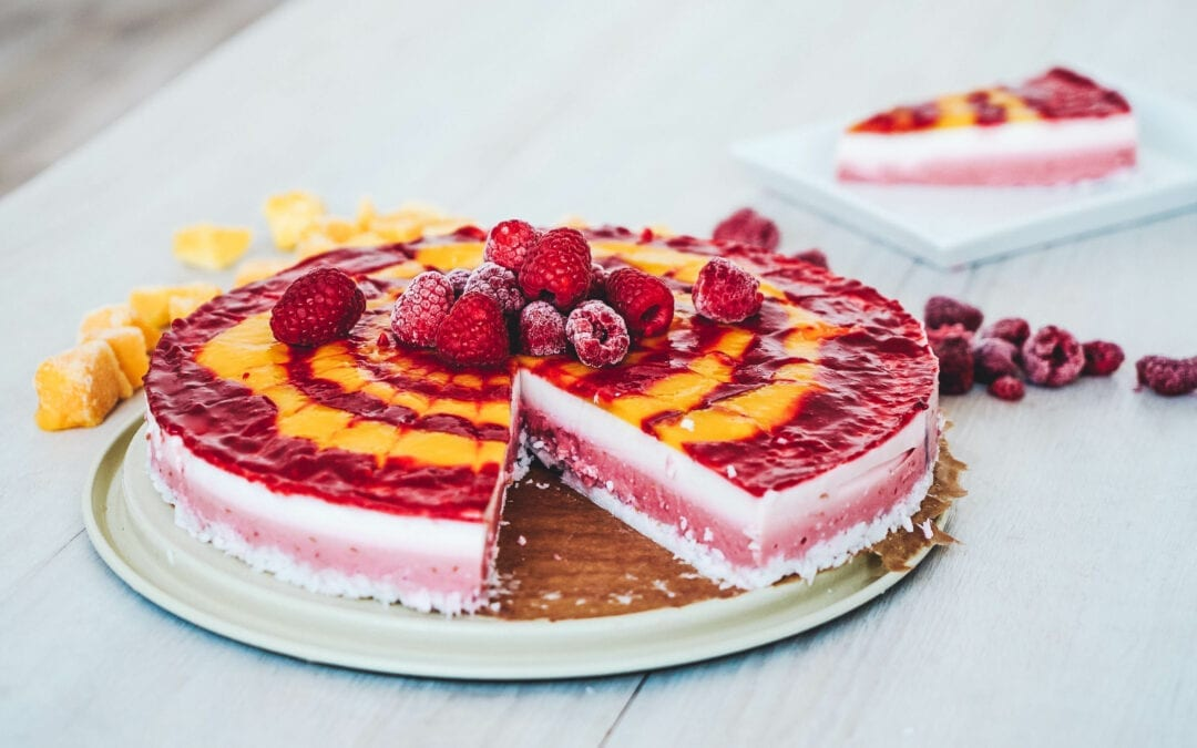 "No Bake AIP Triple Layer Kokos ""Cheesecake"""