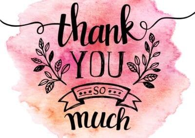 Ein großes Danke von uns