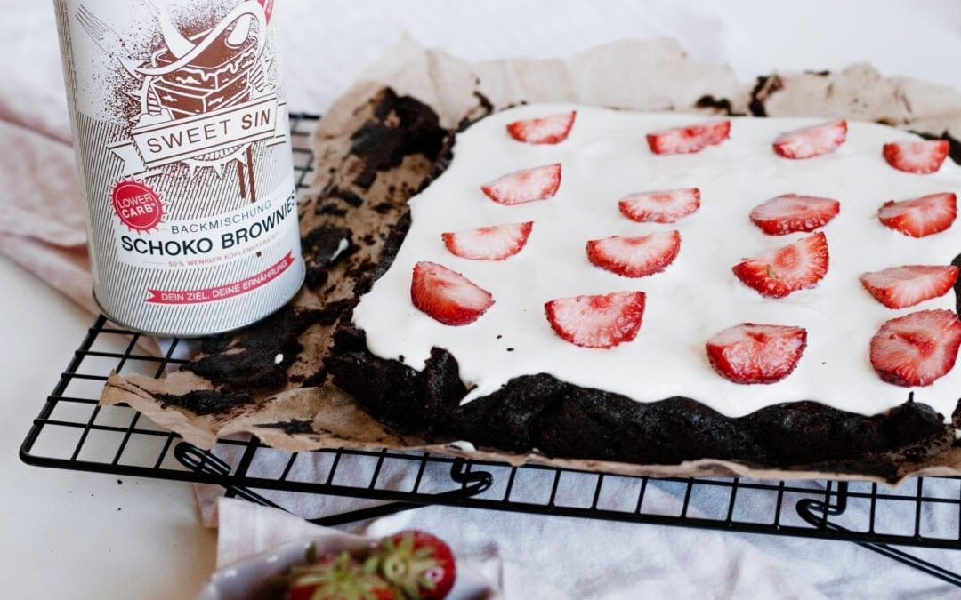 Erdbeer-Frischkäse-Brownie