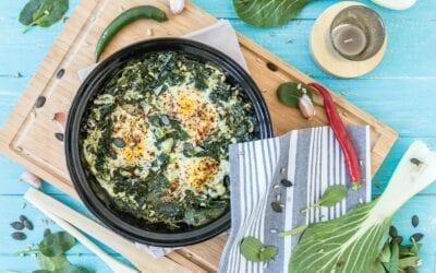 Deftige grüne Shakshuka nach Foodpunk-Art