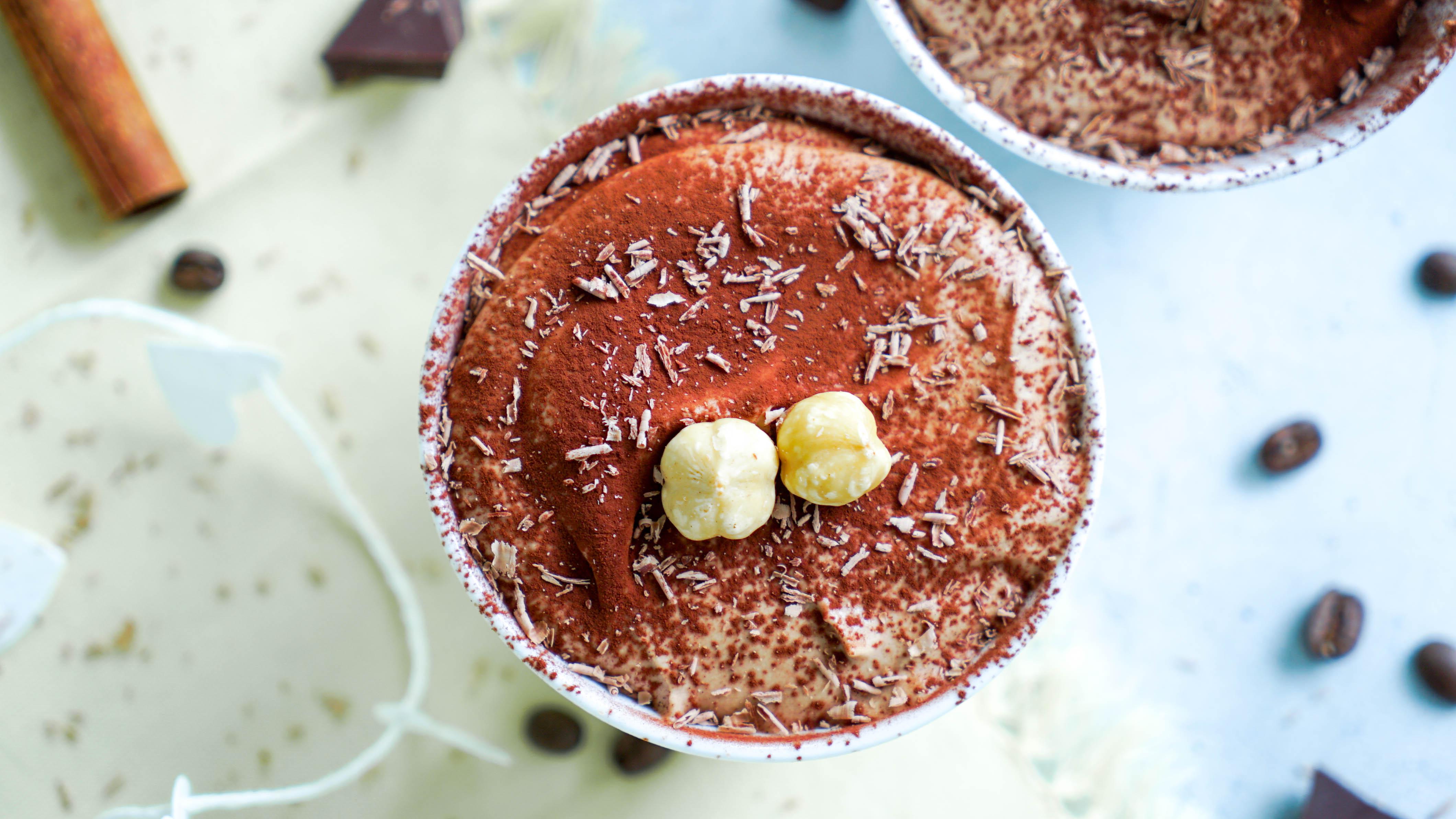 Cremiges Espresso-Schokoladen-Mousse