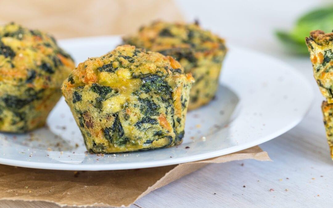 herzhafte Spinat-Feta-Muffins fürs Frühstück