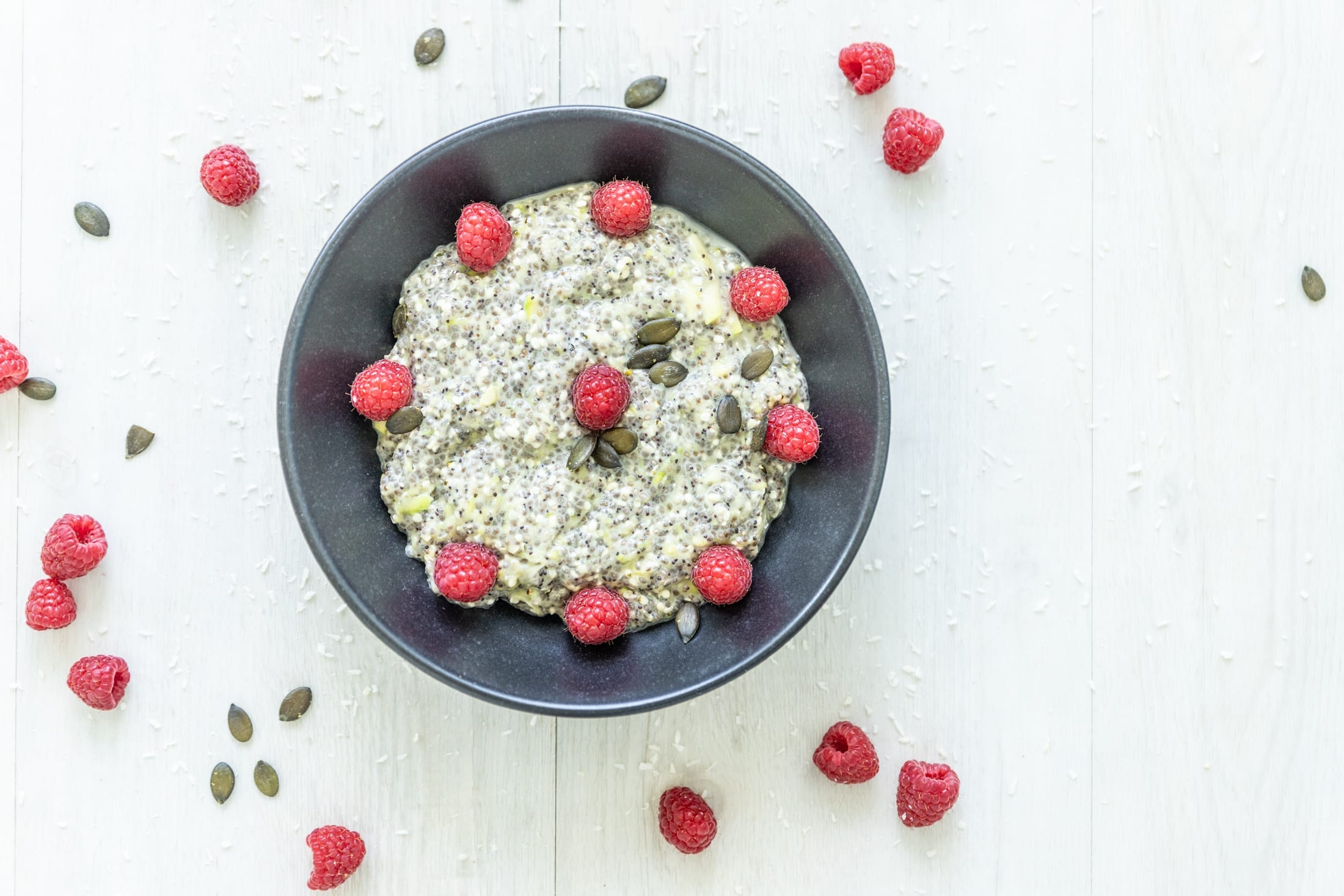 Zucchini-Chia-Porridge low carb