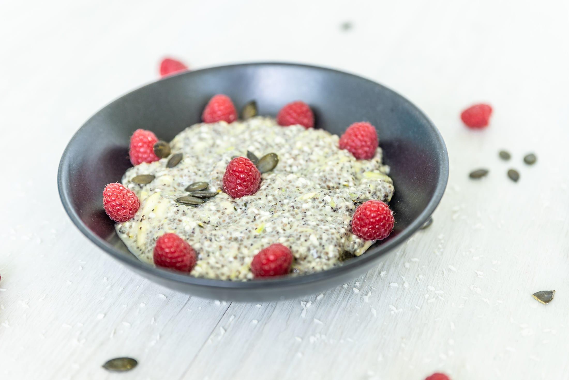 keto Zucchini-Chia-Porridge