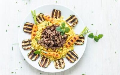 Orientalisch angehauchter Blumenkohl-Couscous