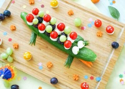 Ein Gurken-Krokodil für den Foodpunk-Nachwuchs