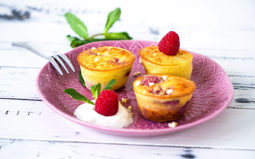 Low Carb Himbeer-Joghurt-Muffins