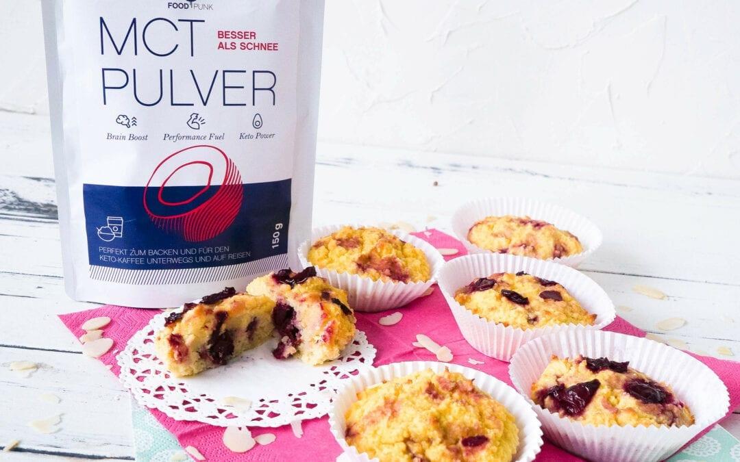 Kirsch-Muffins mit MCT-Pulver