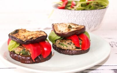 Low Carb Puten-Spinat-Burger vom Grill