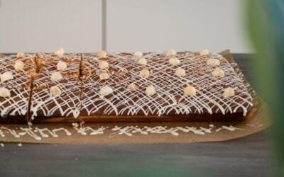 White Chocolate Macadamia Blondie