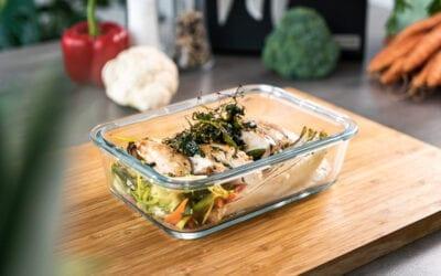 Low Carb Mealprep Bowl mit Hühnchen