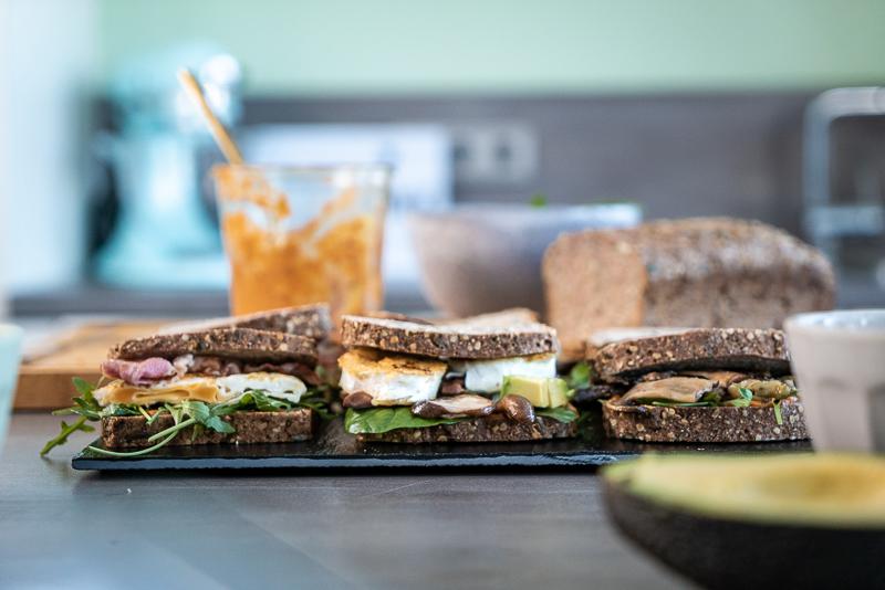 Superschnelle Low Carb Sandwiches
